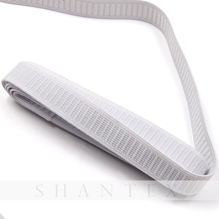 Weiß Woven Elastic Webbing Knit Non-Rolle Elastic Band