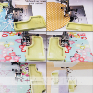 Nähzubehör 6-in-1 Stick'n Stitch Guide Perfekt für Needlecrafts Sewing Machine Stitch Guide
